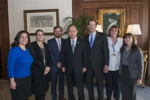 Ban Ki-moon and UNIC Staff